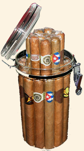20 Ct. Cigar Sampler-Acrylic Jar Humidor