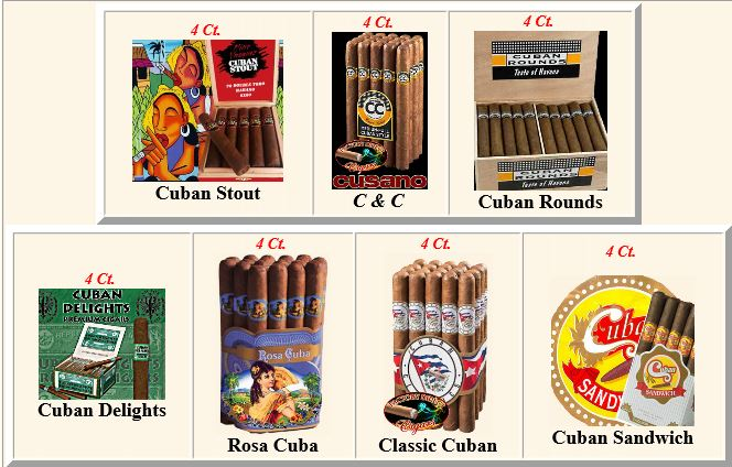 28 Ct. Cuban-ish Cigar Sampler