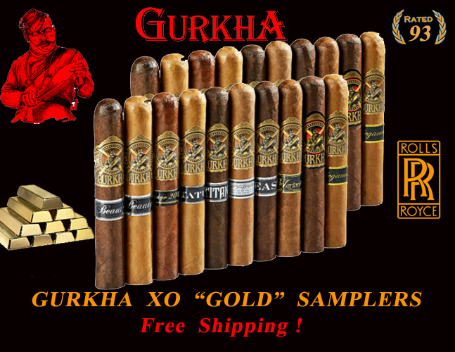 Gurkha's Finest  XO Gold  6x60 Super Samplers