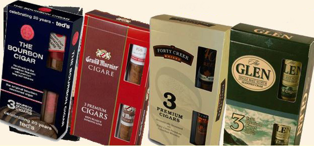 Bourbon, Cognac, Whiskey, and Scotch Infused Cigars