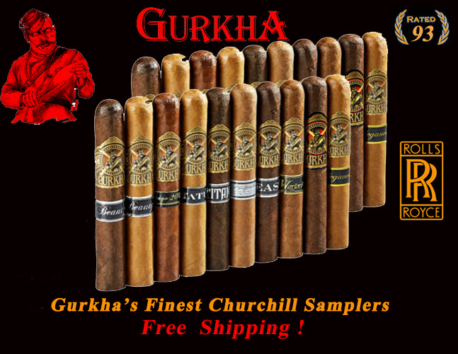 Gurkha's Finest Churchill Super Samplers...Free Shipping !
